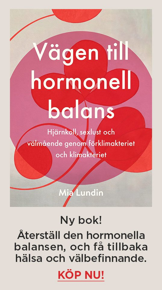 Vägen till hormonell balans - Ny bok av Mia Lundin